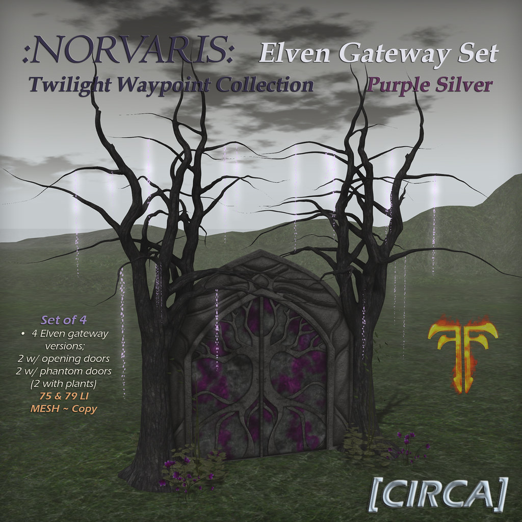 @ Fantasy Faire 2019 | [CIRCA] – :Norvaris: Elven Gateway Set – Purple Silver