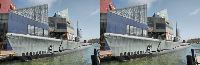 USS Torsk tied up next to the National Aquarium in Baltimore