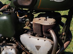 Triumph 500 S. V. Twin WWII army motorcycle - Country Heritage Park, Milton, Ontario.