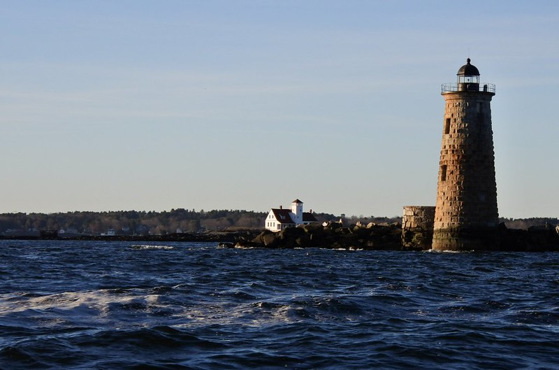 Whaleback light on approach.