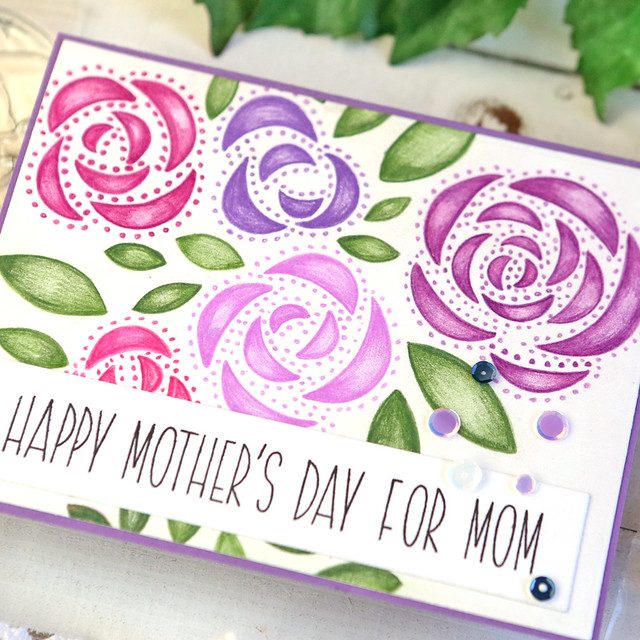 Happy Mothers Day For Mom close up