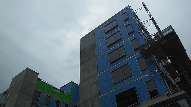 Condo under construction, Queen and Ossington #toronto #queenstreetwest #ossingtonave #condos #construction #blue