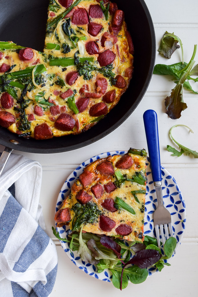 Bacon, Beetroot & Broccoli Frittata