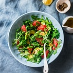 Avocado, grapefruit, rocket salad......