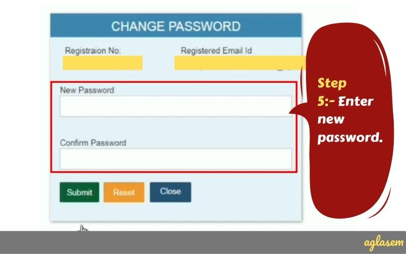 SSC GD Forgot Password