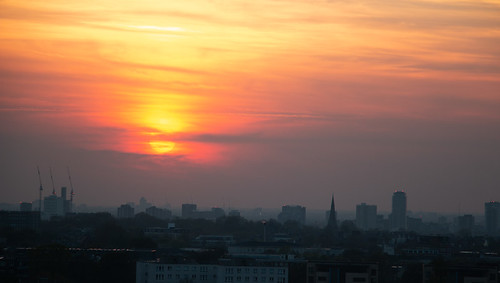Good Friday sunset from Herne Hill