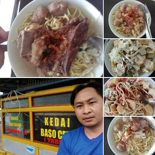 bakso cebu ( they have a bakso whit,tofu,  meat, beef ribs ) just name it they have it all any kind type of bakso meatballs cente  city langowan minahasa region just behind street at store market area ... great place to have easther weekends and some rela