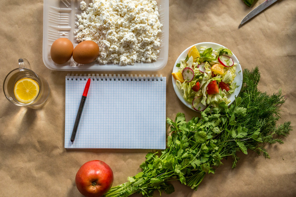 Diet plan. Planning diet with switching to healthy organic…   Flickr