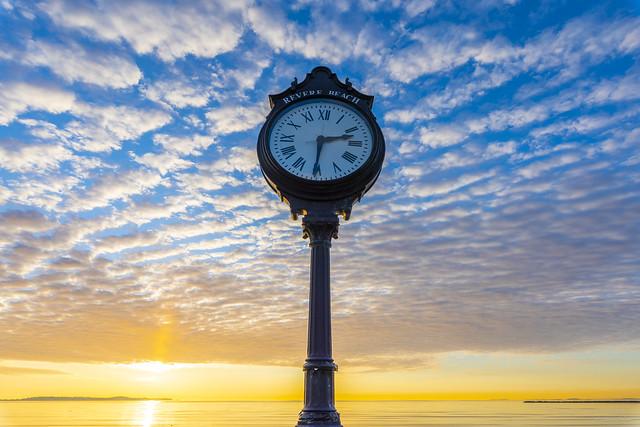 Revere Beach Clock at Sunrise