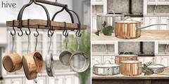 hive // hanging pot rack + covered cookware set | fifty linden friday
