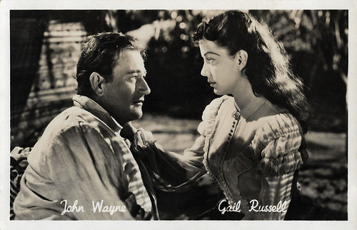 John Wayne and Gail Russell in Wake of The Red Witch (1948)