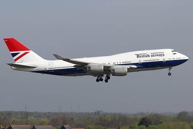 G-CIVB British Airways Boeing 747-400 at London Heathrow (LHR/EGLL)