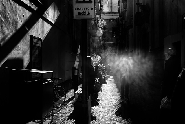 Smoking in a street of Napoli