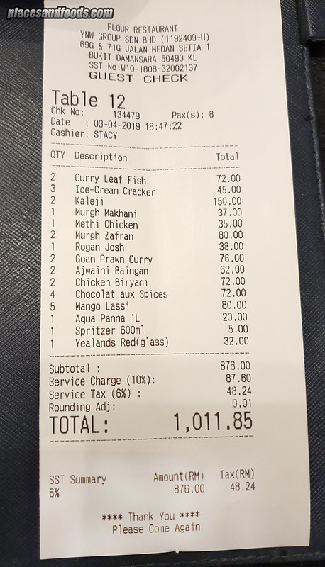 flour RM 1k receipt