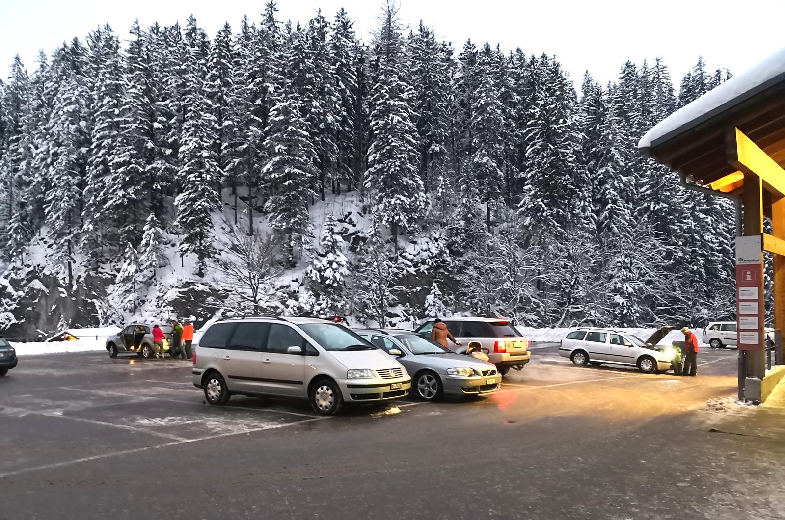 Car park at Hasliberg Wasserwendi