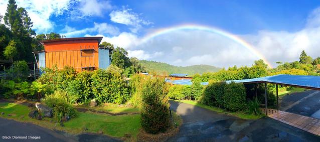Rainbow over Lamington National Park, O'Reilly's Rainforest Retreat, SE Queensland