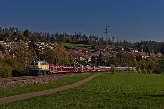 BTE-Umleiter mit 218 460 am Hochrhein