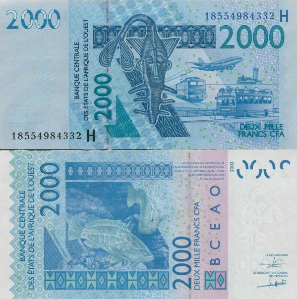 2000 Frankov Niger (WAS) 2018, P816H