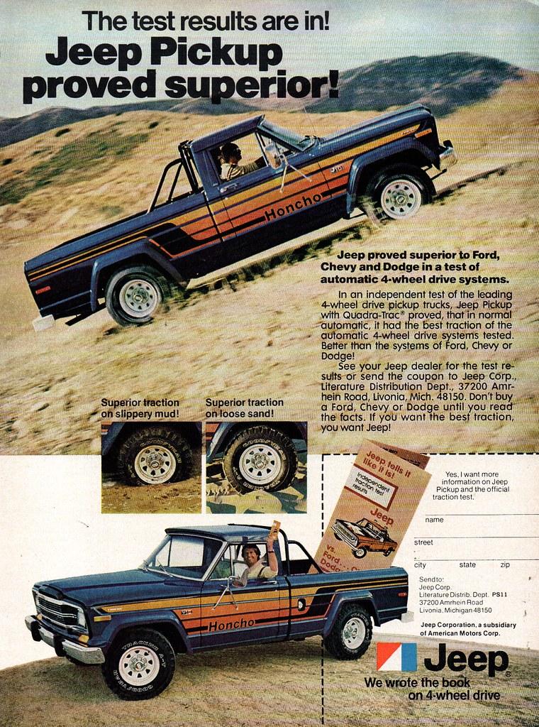 1979 American Motors Jeep Pickup USA Original Magazine Adv
