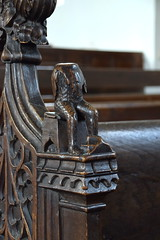 bench end: woodwose (15th Century)