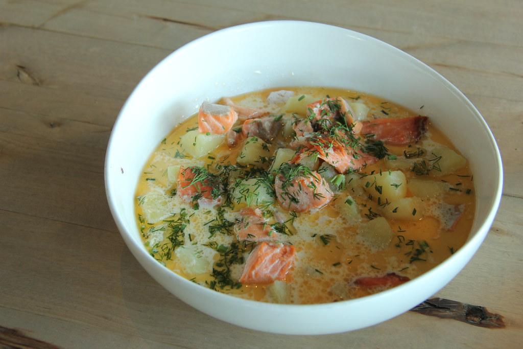 Finnish salmon soup, Loyly restaurant, Helsinki