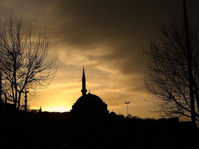 Puesta de sol en Estambul.