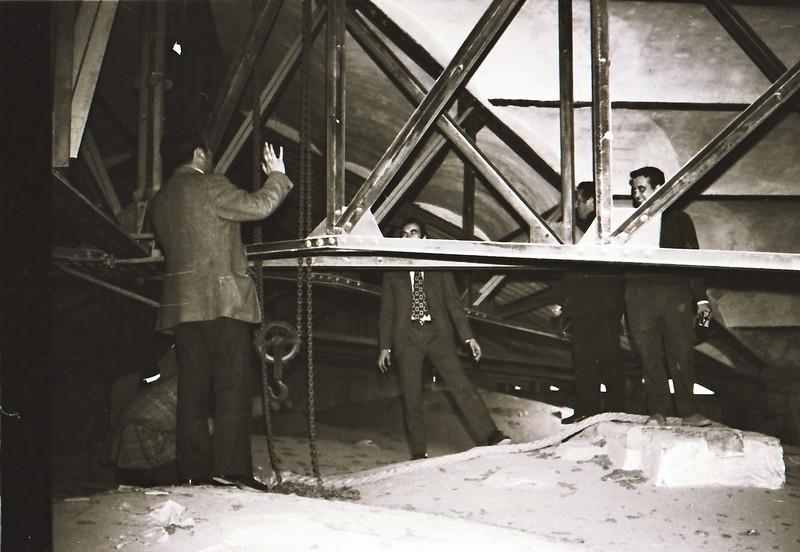 Cubiertas de la catedral. Vista tomada desde las zonas superiores de la catedral en los años 60. Fotografía de Victoriano de Tena Sardón