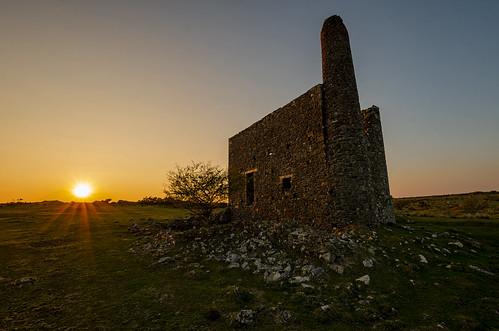 south phoenix mine cornwall engine house red bricks abandoned mining rural west sunset d7000 1020 sigma landscape
