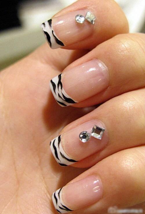 45 Zebra Stripe Nail Art Designs For 2019 Fashionre