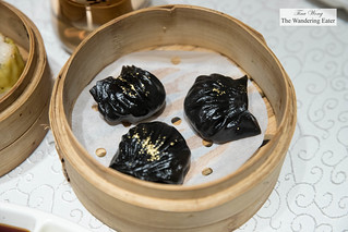 Squid ink ha gaw with Chinese olive | by thewanderingeater