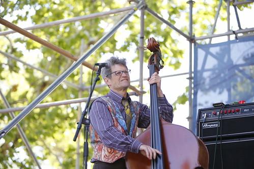 James Singleton at French Quarter Fest - 4.14.19. Photo by Michele Goldfarb.