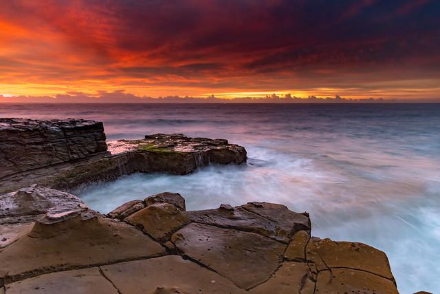 Skies Light Up Seascape