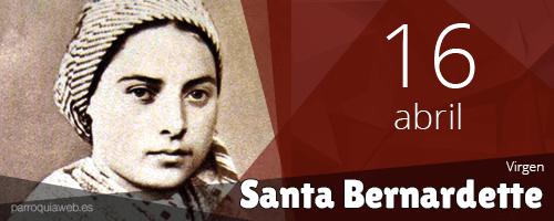 Santa María Bernarda (Bernardette) Soubirous