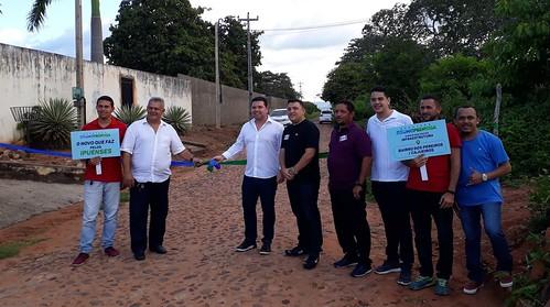 Dep. Bruno Pedrosa inaugura obras em Ipu