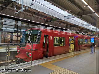 nagoya central airport express train red | by placesandfoods.com