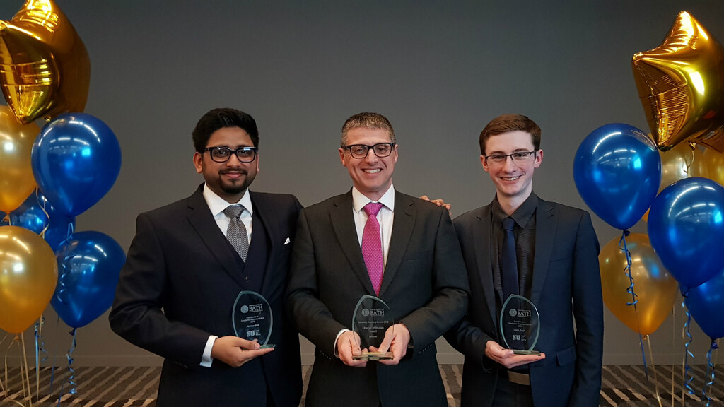 Akshar Nair, Fabio Nemetz and Liam Pugh with their awards