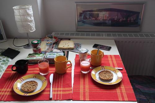 Frühstück bei einer Freundin in Berlin