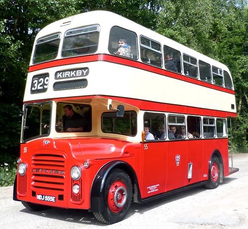 MDJ 555E 'St. Helens Corporation Transport' No. 55. Leyland PD2 / East Lancs on Dennis Basford's railsroadsrunways.blogspot.co.uk'