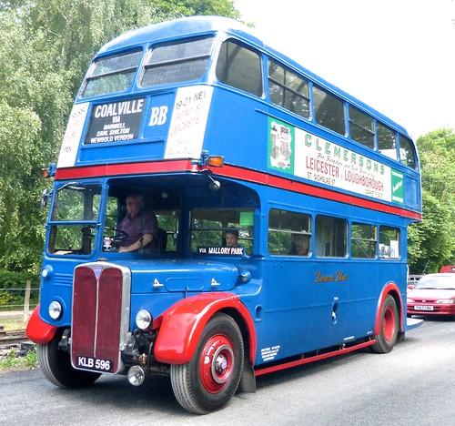 KLB 596 'Brown's Blue,' Markfield, Leicester, AEC Regent 3 / Saunders Roe. on Dennis Basford's railsroadsrunways.blogspot.co.uk'