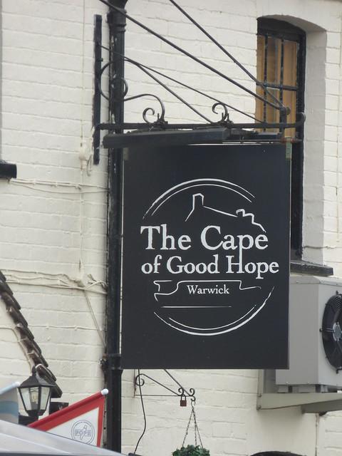 The Cape of Good Hope - Cape Top Lock - Cape Locks - Grand Union Canal, Warwick - pub sign