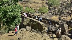Portuguese Bridge (1626) on the way to the Blue Nile Falls. Tiss isat, Ethiopia