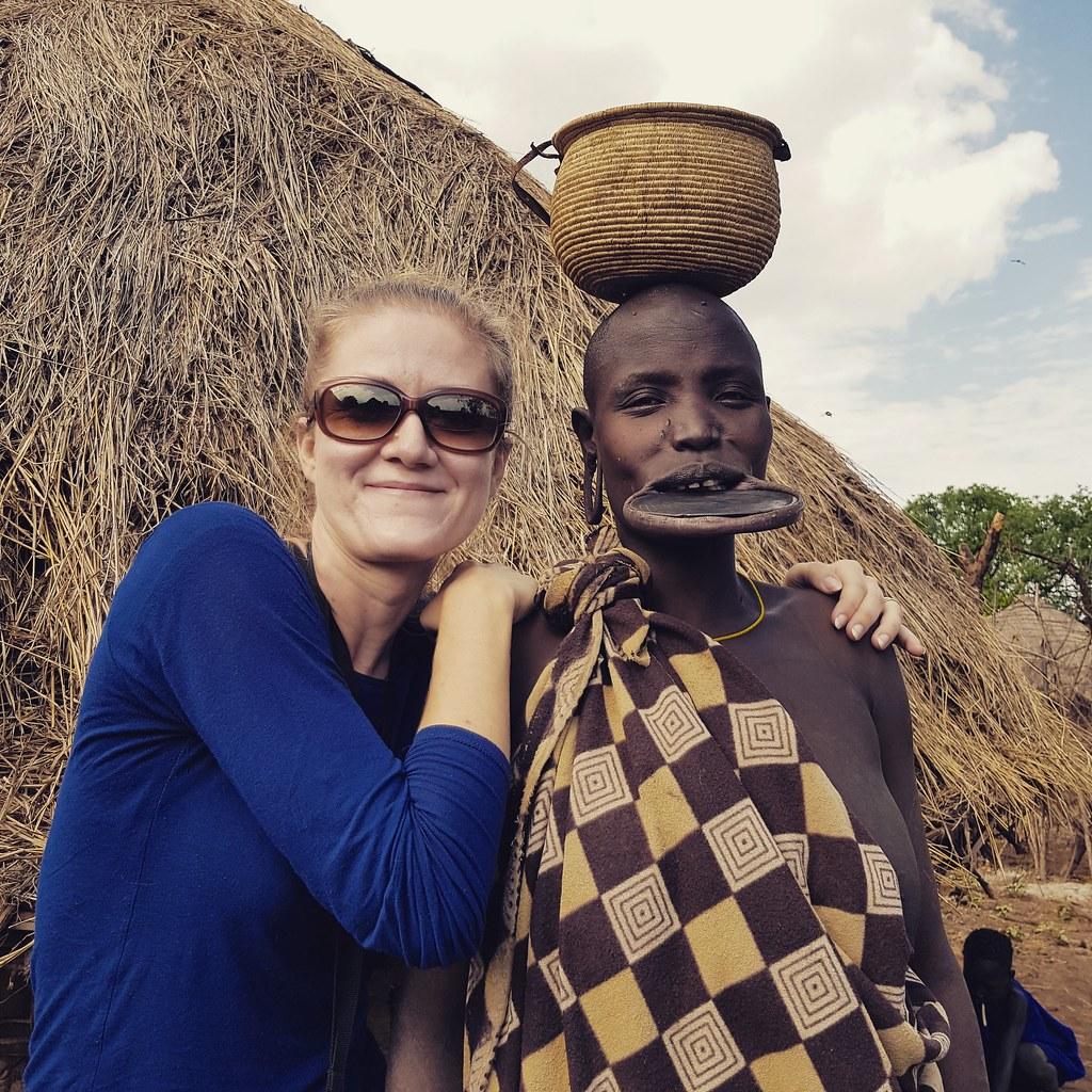 Kobieta z plemienia Mursi, Etiopia