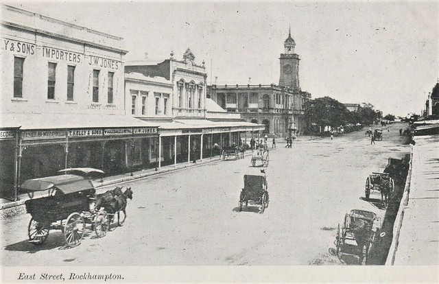 East Street, Rockhampton, Qld - very early 1900s