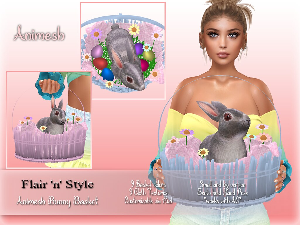 {Flair 'n' Style} Animesh Bunny Basket