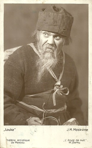 Ivan Moskvin as Luka in Gorky's The Lower Depths, Moscow Art Theatre