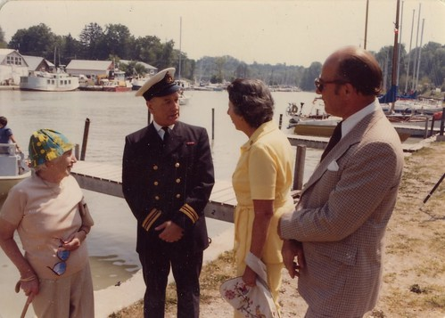 PB11070 Kay Reid, Capt Bercham, and Peg Willock, July 25, 1981