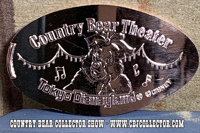 2019 Tokyo Disneyland Trixie Pressed Medallion - Country Bear Collector Show #203