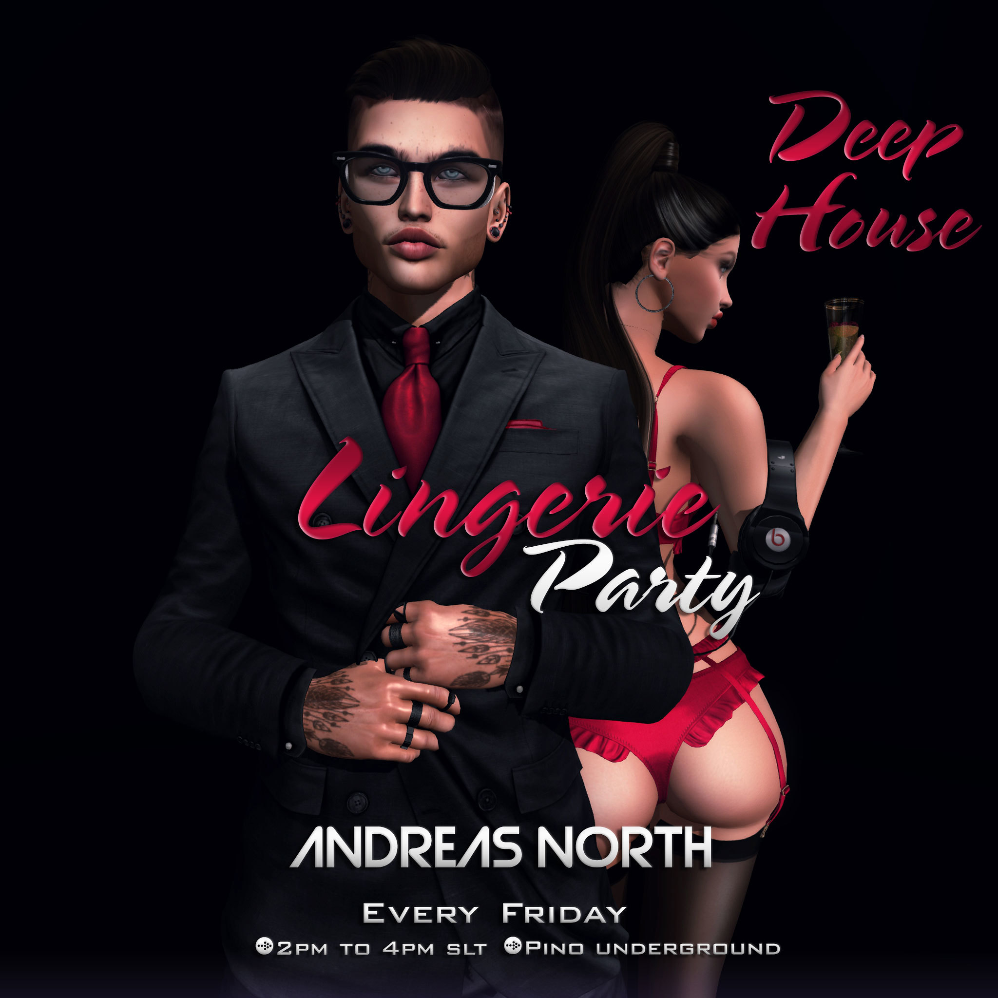 ANDREAS NORTH- LINGERIE PARTY