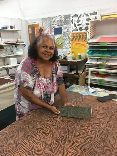 Featured Artist Martha Lee of Nagula Jarndu. Image courtesy of the artist and Nagula Jarndu