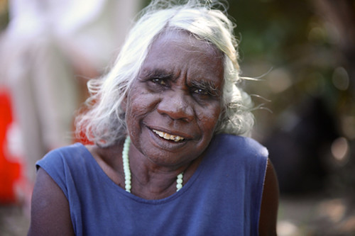 Featured Artist Margaret Kundu of Durrmu Arts. Image courtesy of Durrmu Arts Aboriginal Corporation.